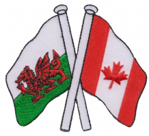 Wales & Canada Friendship Embroidered Patch A177